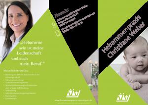 Flyer Christiane Weber Hebammenpraxis